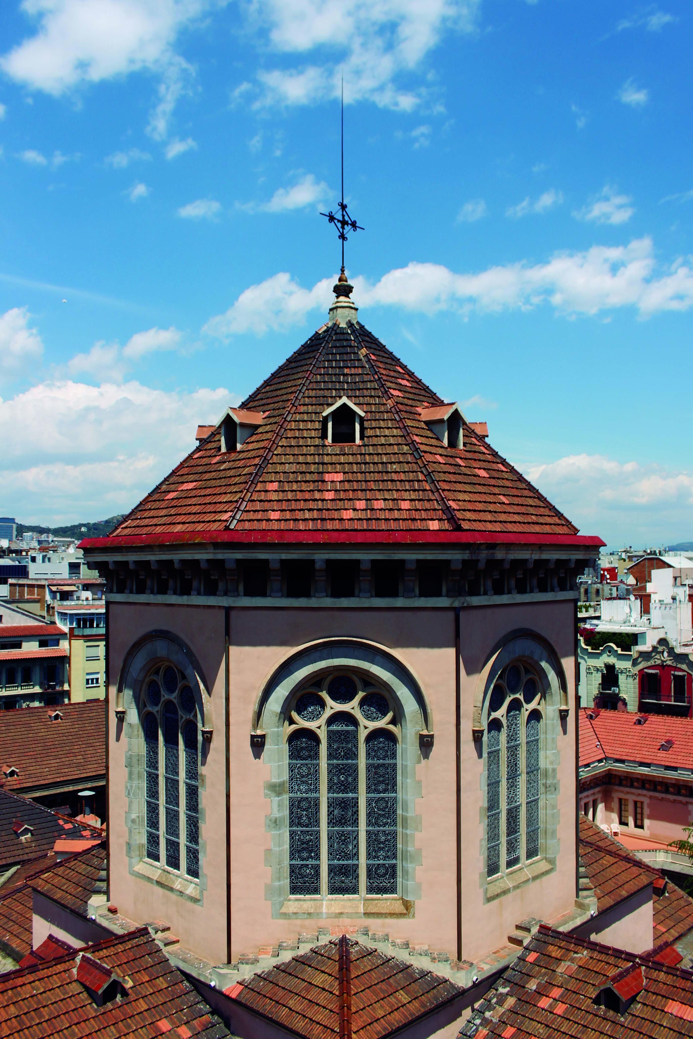 15. Vista de la torre del Seminario Conciliar de Barcelona