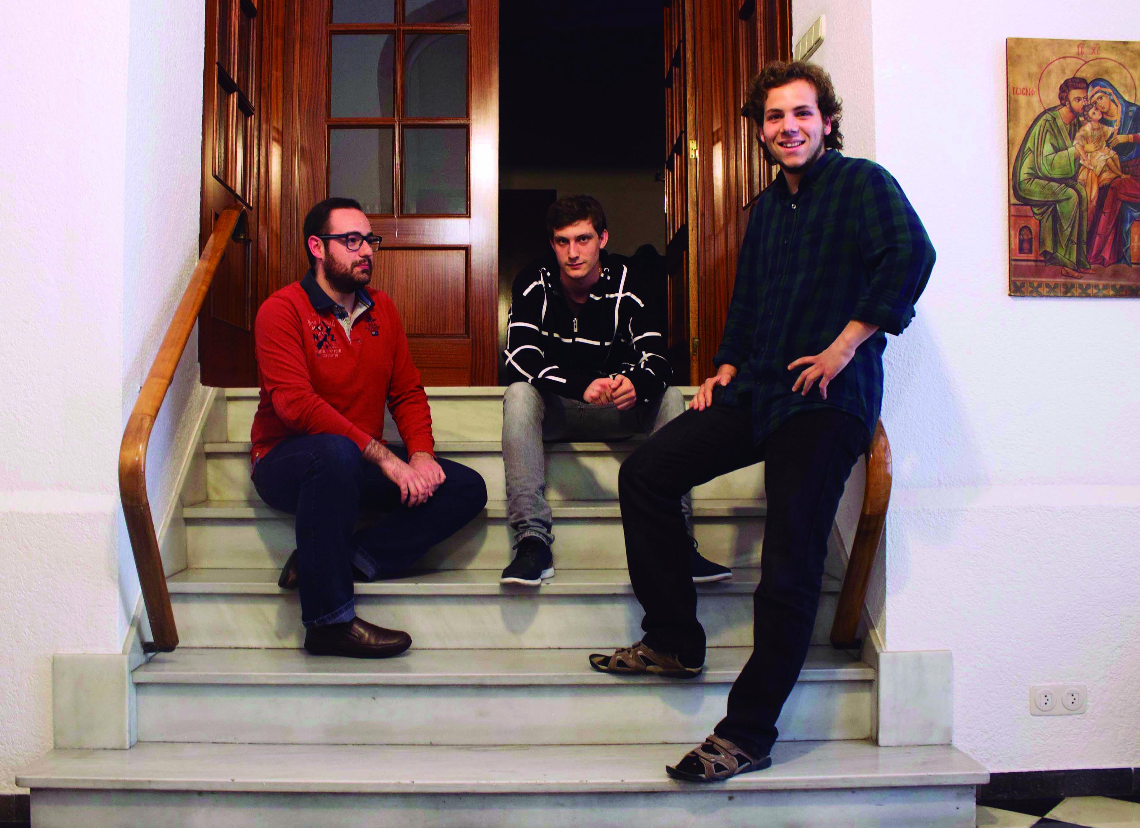 1a. Adrià, Íñigo y Santi. Seminari Interdiocesano